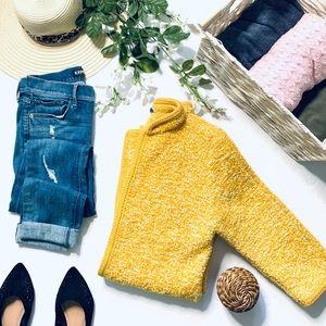 Vintage California Creations mustard cardigan